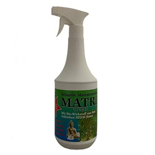 1 Liter MATRA CLEAN Milbenspray, Milbenschutz, Milben Stop-Spray, Anti-Milben-Mittel, Milbencontroller - für Matratzen, Polster und Textilien