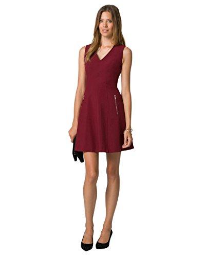 Le Château Women's Knit Fit & Flare Dress,XXL,Brown/Smoke