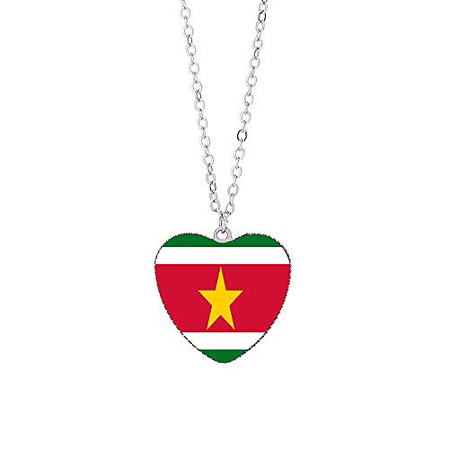 Nationale vlag Suriname Ketting Toeristische Souvenir Gift Collection Unisex