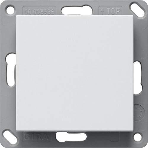 Gira 242127 Funk Wandsender Batterielos, 1fach System 55 Reinweiß matt