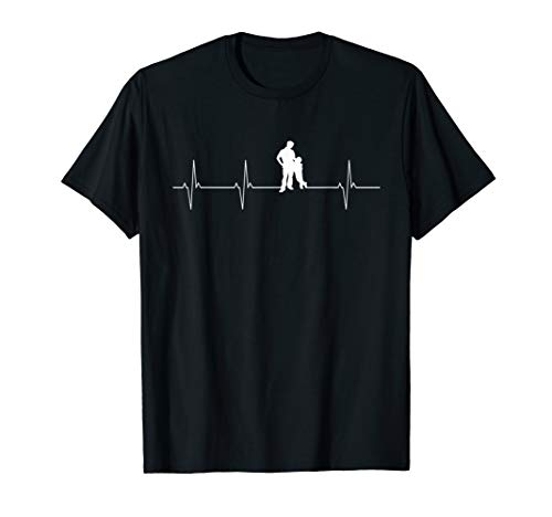 Papa und Sohn Herzschlag Vater Sohn Partnerlook Geschenk T-Shirt