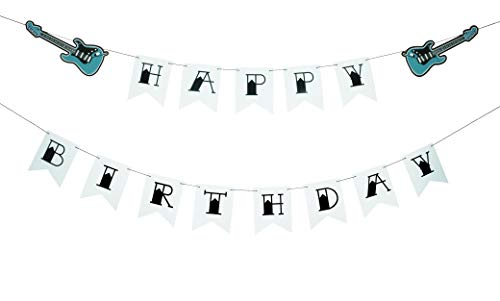 All Things Rockabilly Classic Guitar Style Happy Birthday Banner