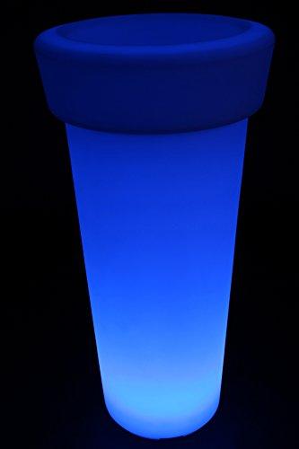 point-garden Blumenkübel Pflanzkübel Pflanzgefäß LED beleuchtet Höhe 95 cm