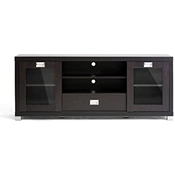 Amazon Com Baxton Studio Matlock Modern Tv Stand With Glass Doors Furniture Decor