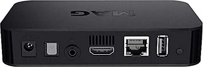 Infomir MAG 322w1 / MAG 323w1 IPTV/OTT net entertainment receiver Linux 3.3 based set-top box device with ports for USB, HDMI and Ethernet