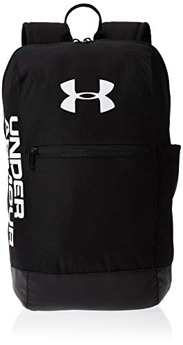 Under Armour UA Patterson Backpack Mochila, Unisex Adulto, Negro Black/White 001, Talla única