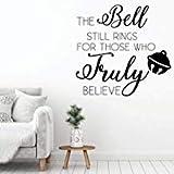 Pegatinas de pared navideñas con diseño de campana, decoración navideña para sala de estar o habitación familiar