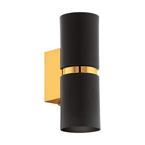 Preisvergleich Produktbild EGLO PASSA Wandleuchte,  Stahl,  6, 6 W,  schwarz,  gold