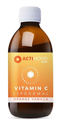 Liposomales Vitamin C   Orange-Vanille 250ml   hochdosiert   für dein Immunsystem   Tagesdosis 1000 mg Vitamin C   hohe Bioverfügbarkeit   flüssig   ohne Zusätze   vegan