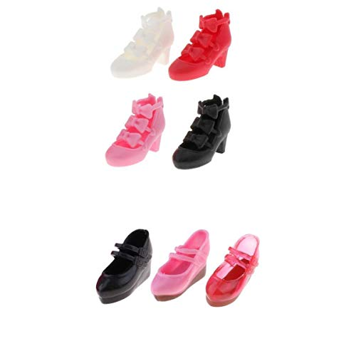 #N/A 7 Pairs of 1/6 Girl Dolls Shoes for Blythe Licca / Momoko / Azone Outfits