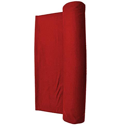 haxTON Premium Billardtisch-Zubehör, beliebter Stil, Billardtuch, nicht verblasst, Filz, Standard grün, grün, marineblau, rot, blau oder schwarz für Billardtisch für 2,2 m, 2,4 m, 2,4 m, Rot