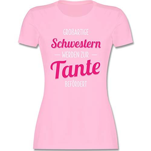 Schwester & Tante - Großartige Schwestern Werden zur Tante befördert - M - Rosa - ich Habe eine verrückte Tante - L191 - Tailliertes Tshirt für Damen und Frauen T-Shirt