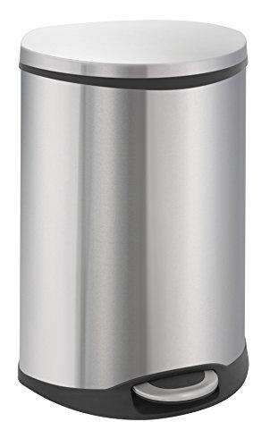 EKO Recycle Bin Poubelle à Pédale Métal Inox 40,6 x 45 x 69 cm 22 litres