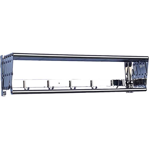 XWSM 40-80cm Plegable Tendedero De Ropa Pared Tendedero Lavado De Ropa De Suspensión Extensible Secador De 6 Varillas con Gancho para Barra Riel Toalla Baño Casa (Tamaño : 70cm/27.6in)