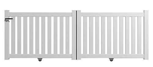 Packit - Portail aluminium coulissant ajouré en kit dimension L.4000 (entre piliers) X H.1200 mm couleurs Blanc (RAL 9010)