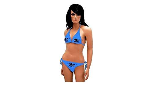 kenai dark Bikini mit Totenköpfen, Bikini with skulls,Bikini con calaveras, Bikini avec des crânes