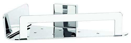 tesa DELUXXE Eck-Duschkorb, exquisites Design, Metall, verchromt, rostfrei, inkl. Klebelösung, starker Halt, 55mm x 220mm x 150mm