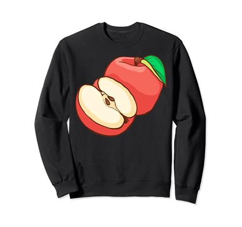 Rote Äpfel Apfel Obst Veggie Vegetarier Veganer Sweatshirt