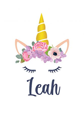 Leah: Personalized Name Lined Journal Diary Notebook 120 Pages, 6