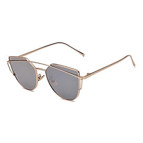 Gafas de Sol polarizadas Retro Vintage para Hombres Deporte al Aire Libre Metal metálico Ultraligero Lentes HD Lentes Gafas Air Force Unisex UV 400 Protección (Color : Pink)