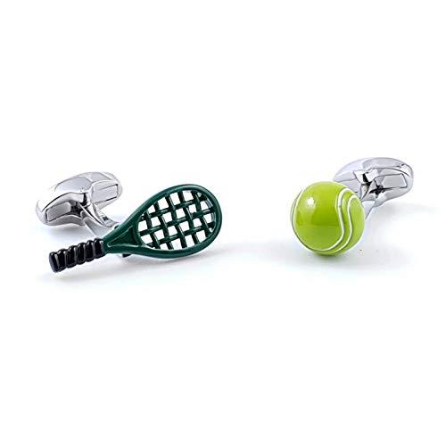Gemelli da polsino racchetta e palla da tennis