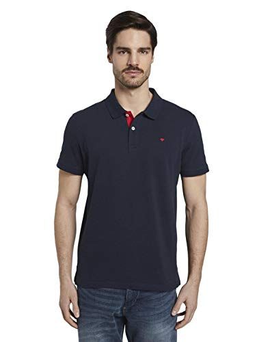 TOM TAILOR Herren Basic Polo_1016502 Poloshirt, Sky Captain Blue, XL EU