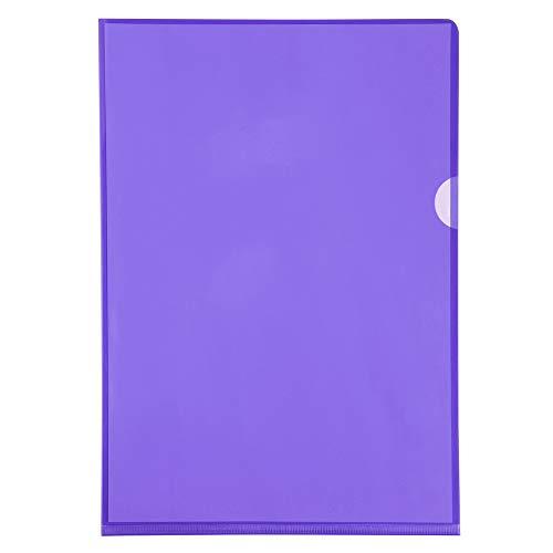 Exacompta 661230E - Portafolios de plástico A4 13.5, color púrpura, caja de 100