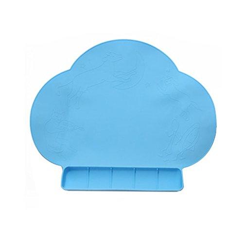 Set de table en silicone pour enfants Bleu tapis anti-d/érapant pour tapis dalimentation en silicone de qualit/é alimentaire pour tapis de table en silicone pour enfant en bas /âge