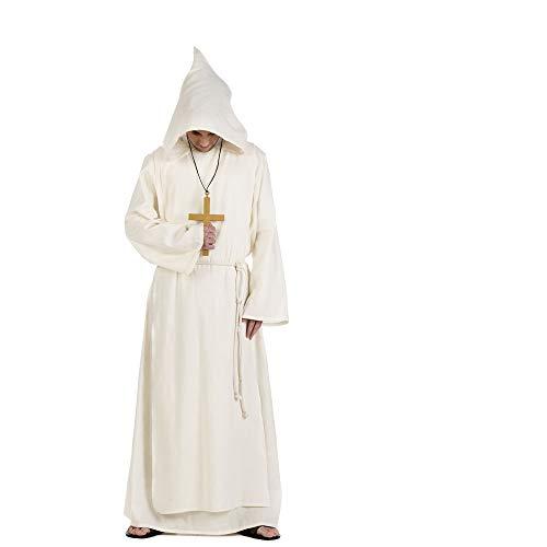 Costume de moine cut kartäusermönch klosterbruder blanc