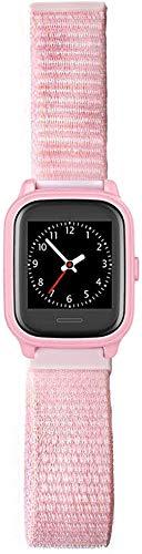 ANIO Armband für ANIO4 Touch, aus Textil mit Klettverschluss, weiches und atmungsaktives Uhrenarmband, Rosa