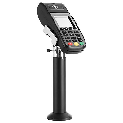 Mount-It! Universal Credit Card POS Terminal Stand for VeriFone Ingenico First Data Card Readers | Adjustable Clamp Width with Tilt, Swivel | Adhesive or Bolt Down Installation