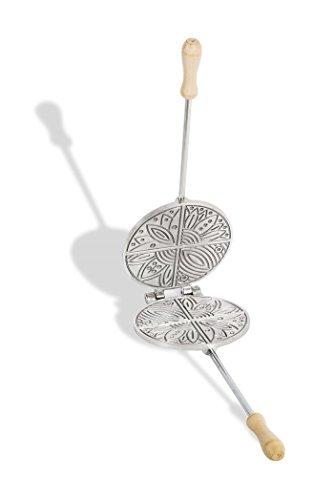 CBE Elettrodomestici - 2030100AL - Molde redondo de aluminio para galletas/obleas de barquillo típicas italianas (ferratelle)