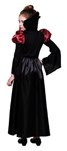 Boland- Costume Bambina Regina dei Vampiri, Nero/Rosso, 128, 78106