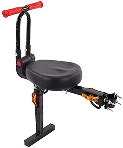 X&Y Sillín eléctrico para Bicicletas, Asiento de Bicicleta eléctrico para niños, Asiento de Bicicleta para niños con Mango Plegable (Color : Black)