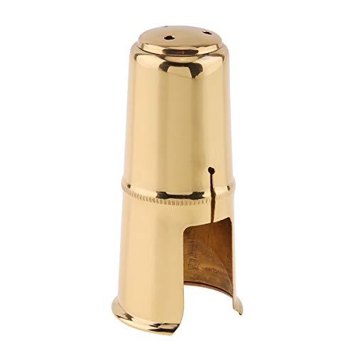 OriGlam Capuchon de protection pour bec de saxophone alto, bouchon pour saxophone alto, capuchon pour bec de saxophone alto (doré)