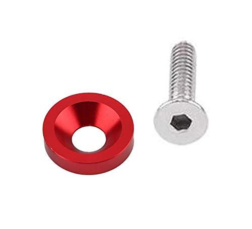 30 Pcs CNC Billet Aluminum Fender Washer Engine Bay Dress Up Kit (Red)