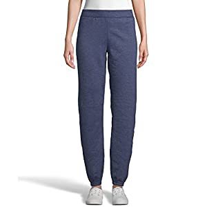 Hanes Women's EcoSmart Cinched Cuff Sweatpants, Navy Heather, S