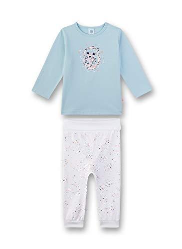 Sanetta Baby-Mädchen Pyjama kurz Zweiteiliger Schlafanzug, Blau (blau 5632), 74 (Herstellergröße:074)