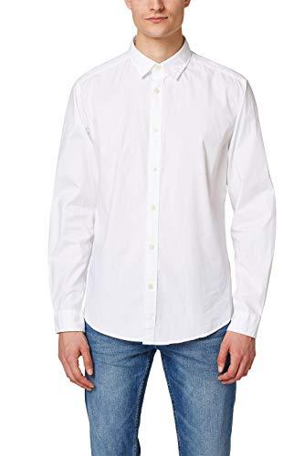 ESPRIT Herren 998EE2F800 Freizeithemd, 100/WHITE, L