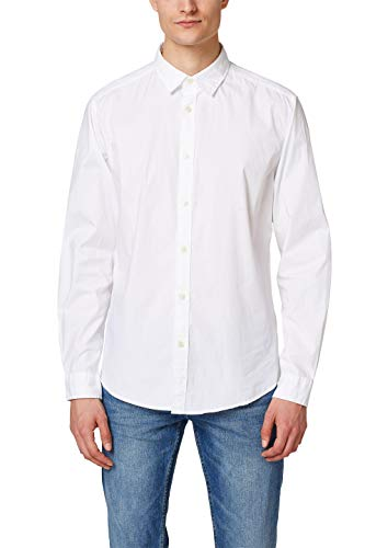 Esprit 998ee2f800 Camisa, Blanco (White 100), X-Large para Hombre