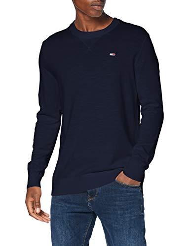 Tommy Jeans Herren TJM Slub Sweater Pullover, Blau (Twilight Navy), M