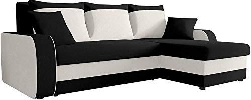 Ecksofa Kristofer, Design Eckcouch Couch! mit Schlaffunktion, Zwei Bettkasten, Farbauswahl, Wohnlandschaft! Bettfunktion! L-Form Sofa! Seite Universal! (Mikrofaza 0015 + Mikrofaza 0031.)