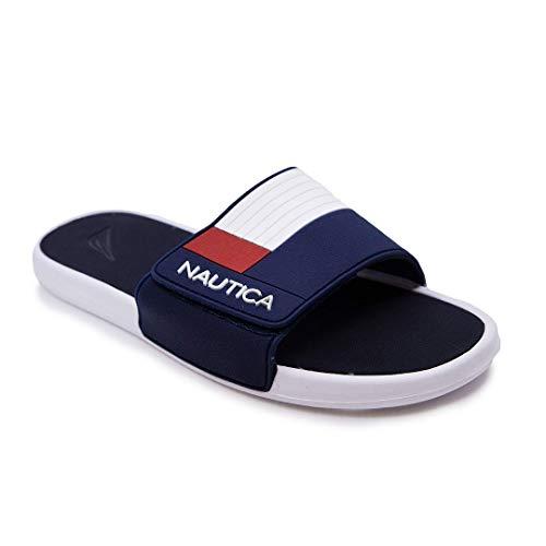 Nautica Men's Athletic Slide, Strap Comfort Sandal-Benton-Navy-10
