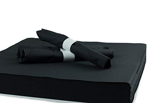 "Simulinen Dinner, Catering & Party Napkins – Black – Decorative Colored Napkin – Durable, Elegant, Cloth Like & Disposable (16""x16"", 250 Un-Folded)"