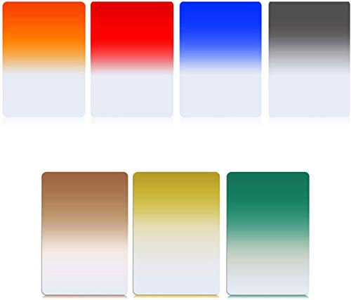 Zomei - Juego de filtros cuadrados graduados de 7 colores, 150 mm x 100 mm, para serie Cokin Z