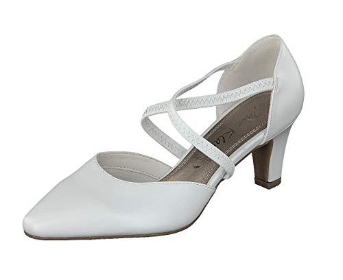 JANE KLAIN Damen Schuhe Pumps Hochzeit 224-790 in 2 Farben (42 EU, White)