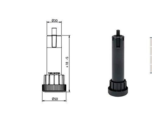 Confezione da standard 4 tubi D30 piedi in pvc per mobili e cucine con 2 ganci zoccolo