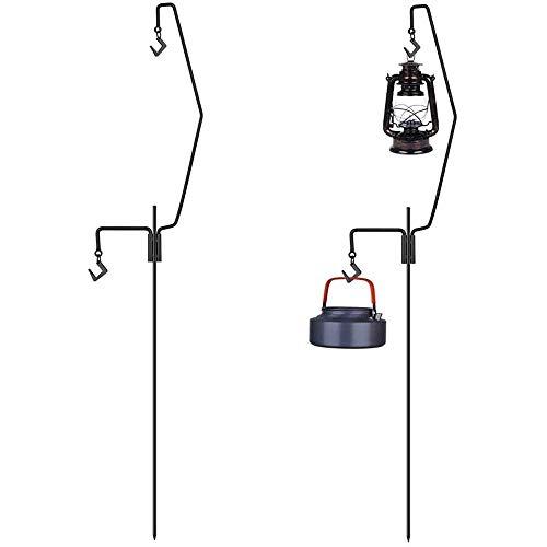 Lantern Stand Lantan Pole Power-Rodamiento de carga Capacidad de carga Capacidad de carga de aproximadamente 8 kg Conjunto plegable Easy Storage Familia conveniente Camping al aire libre y interior di