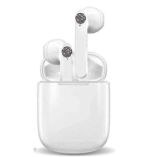 i18 Auriculares Inalámbricos Auriculares Bluetooth TWS Bluetooth 5.0 con Micrófono HiFi IPX5 Impermeabile Control Táctil para iPhone Xiaomi Samsung Huawei Android