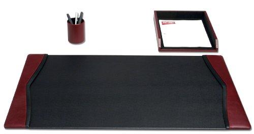 Dacasso modernes Schreibtisch-Set, Burgund, 3-teilig